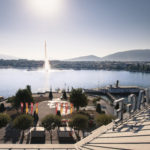 Hôtel Beau Rivage à Genève : terrasse